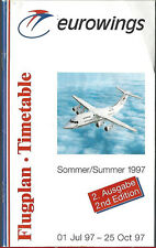 Eurowings system timetable 7/1/97 [6112]