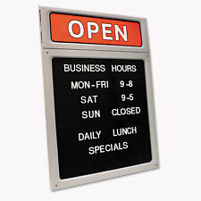 Cosco Message/Business Hours Sign 15 x 20 1/2 Black/Red 098221
