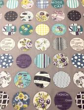 Suzuko Koseki YUWA Fabric Circles Cotton By the Half Yard Japanese Prints