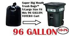 96 Gallon Trash Bags for Roll Carts Super Big Mouth Bags® FREE SHIPPING 3-MIL
