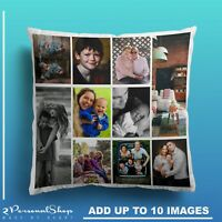 Personalised Photo Pillowcase Cushion Pillow Case Cover Custom Gift up to 10 pic