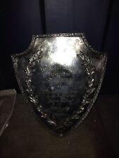 "1924 9 1/2"" Silver Plate Alsop Jr  School Athletic & Scholarship Trophy Plaque"
