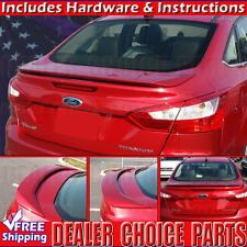 2012 2013 2014 2015 Ford FOCUS 4D Factory Style Spoiler Wing PRIMER