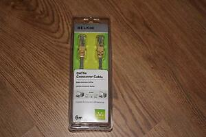 BELKIN CAT5e Crossover cable 6m - RJ45 Male to male - Offset Twisted Pairs Gold