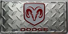 dodge diamond plated ram license plate truck tractor 4x4 hemi rt magnum 1500 new