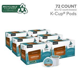 6 X Caribou Blend Medium Roast Coffee Keurig Single-Serve K-Cup Pods 72 Count