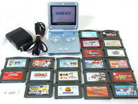 Fully Tested! Lot Nintendo GameBoy Advance SP Console Pearl Blue GBA SP #2892