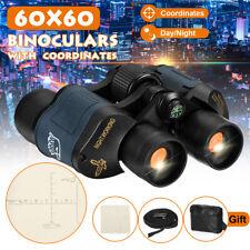 Day/Night Hunting Binoculars 60x60 5-3000M Waterproof Telescopes Coordinates UK