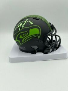 Tyler Lockett Signed Speed Seattle Seahawks Mini Helmet Eclipse COA Hologram