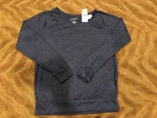 Ideology Raglan-Sleeve Heathered Top, XS, Navy Serenity