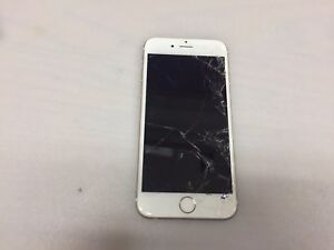 APPLE IPHONE 6 A1549 GOLD VERIZON (LOCKED)(BAD LCD & CRACKED SCREEN)