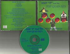 AMP P & the TOP QUAD DJ's Make Ya Bounce RARE MIXES & SLOWED Limit USA CD single
