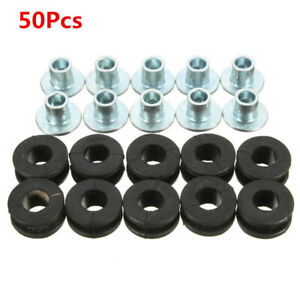 50×Motorcycle Rubber&Steel Fairing Bolt Bushing Buffer Washer For Honda Kawasaki