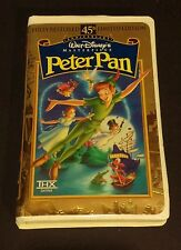 Peter Pan Walt Disney Masterpiece Collection VHS 45th Anniversary Limited Ed.