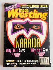 Inside Wrestling July 1996 Magazine ULTIMATE WARRIOR WWE WWF Hulk Hogan Wrestler