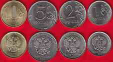 "Russia set of 4 coins: 1 - 10 roubles 2016 ""New types"" UNC"