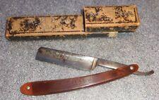old Classic straight edge razor in box