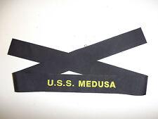 b9544 US Navy WW2 Cap Hat Tally USS Medusa AR1 Repair ship Pearl Harbor IR32D