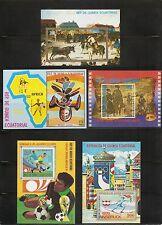 Equatorial Guinea.Five Different Souvenir Sheets .Mask,Olympics,Soccer etc. MNH