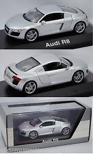 Schuco 5010618413 Audi R8 Coupé 4.2 FSI, eissilber, 1:43, Werbeschachtel