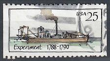 USA Briefmarke gestempelt 25c Experiment 1788 - 1790 Siff aus Markenheft / 138
