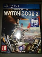 Watch Dogs 2 Deluxe Edition PS4 BRAND NEW & SEALED RARE