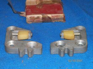 NOS 1956 Ford Thunderbird Lincoln Mercury Door Striker Plates Left & Right Sides