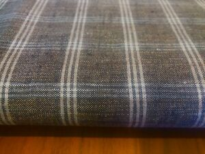 Forge des Salles French Multi  Check Linen Curtain//Craft upholstery Fabric