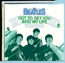 BEATLES 'Got to Get You Into My Life' Picture Sleeve from 45rpm (No Record); EX