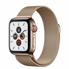 Apple Watch Series 5 40mm GPS & Cellular Gold Stainless Steel Case Milanese Loop