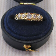 18 Carat Eternity Yellow Gold VVS1 Fine Diamond Rings