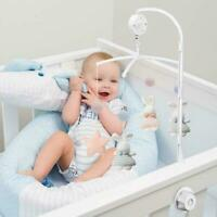 1* Baby Crib Mobile Bed Bell Holder With Music Box Plush Doll Bracket Arm T1Y5