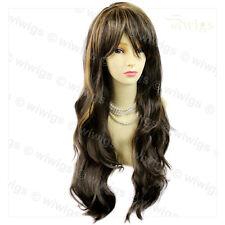 Wiwigs Beautiful Brown & Blonde Mix Long Layered Way Skin Top Ladies Wig