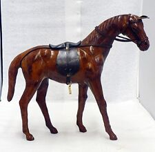 VINTAGE ALL LEATHER HORSE FIGURINE