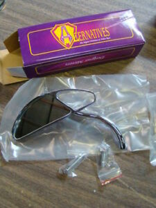 Arlen Ness 13-005 chrome left mirror Harley FXR Softail Dyna XL FL NOS EP12254