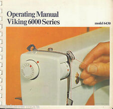 Viking Husqvarna  6430 Sewing Machine Instruction  & Sewing  Manuals   CD / PDF