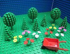 4 Lego Trees Flowers Star Wars Castle City Town Forest Wheel Barrow Harry Potter