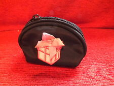 Ladies Black Coin Purse with Gift Box Applique with Bow Detail.Synthetic