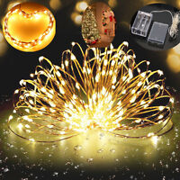 20 -100 LED COPPER WIRE FAIRY STRING LIGHTS PARTY XMAS WEDDING CHRISTMAS BATTERY