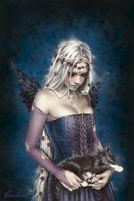 VICTORIA FRANCES ~ ANGEL OF DEATH ~ 24x36 ART POSTER ~ Fairy Cat NEW/ROLLED!
