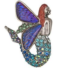 Kirks Folly Glass Winged Echo Fairy Mermaid Pin Enhancer *Limited Edition* ST
