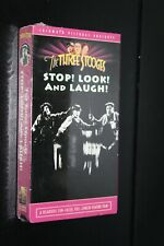 The Three Stooges Stop Look And Laugh VHS Cassette Tape New Factory Sealed