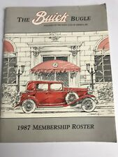 The Buick Bugle 1987 Membership Roster Buick Club of America
