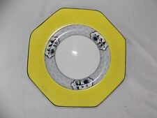 """Vintage BAKER & Co Yellow Plate Colonial People Octagonal, 8"""", England"""