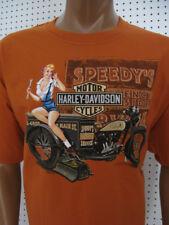 XL nwt HARLEY DAVIDSON Texas Orange Trike *Servi Gal* Pin Up Tee Shirt