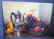 JACQUES VOLLON (1894-1975) petite peinture sur panneau Nature Morte Fruits 1926