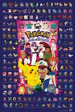 POKEMON CHART POSTER - 24x36 BLUE VIDEO GAME 51920