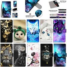 For Sony 10 L3 XA2 OnePlus 7 Alcatel 1S Patterns Leather Wallet Stand Case Cover