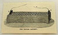 small 1878 magazine engraving ~ THROUGH BATTERY ~ by William Cruickshank