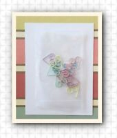 Pastel Heart SMALL TINY PAPER CLIPS Set of 12 unused